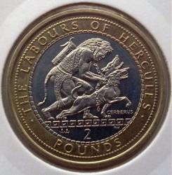 Moneda > 2libras, 2000 - Gibraltar  (12 Labors of Hercules - Taming of Cerberus) - reverse