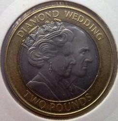 Moneta > 2sterline, 2007 - Gibilterra  (60° anniversario - Matrimonio della regina Elisabetta II e del principe Filippo) - reverse