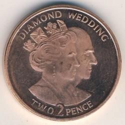 Moneta > 2pence, 2007 - Gibilterra  (60° anniversario - Matrimonio della regina Elisabetta II e del principe Filippo) - obverse