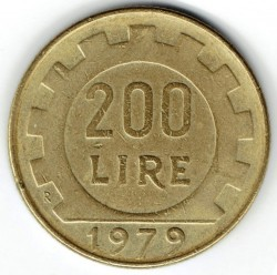 Coin > 200 lire, 1979 - Italy  - obverse
