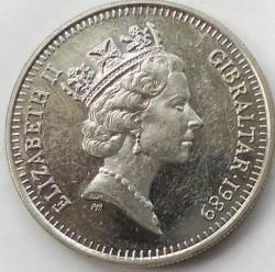 מטבע > 5פנס, 1988-1990 - גיברלטר  - obverse