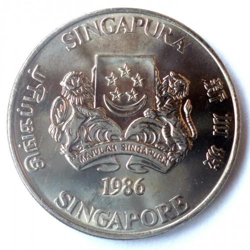 1 Dollar 1985 1986 Singapur Münzen Wert Ucoinnet