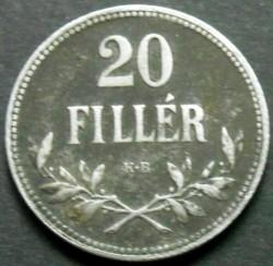 Moneda > 20filler, 1914-1922 - Hongria  - reverse