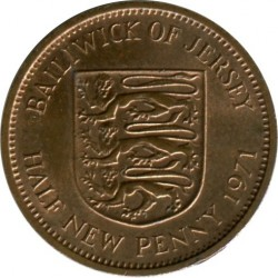 Coin > ½newpenny, 1971-1980 - Jersey  - obverse