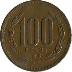 Монета > 100песо, 1989-2000 - Чилі  - obverse