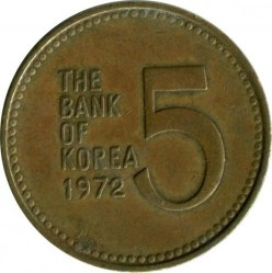 Кованица > 5вона, 1971-1982 - Јужна Кореја  - obverse