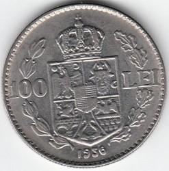 Coin > 100lei, 1936-1938 - Romania  - reverse