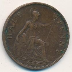 Minca > ½penny, 1926-1927 - Veľká Británia  - obverse