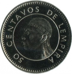 Moneta > 50centavos, 1995-2014 - Honduras  - obverse