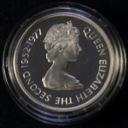 Moneta > 25nuovipence, 1977 - Gibilterra  (25° anniversario - Regno della regina Elisabetta II) - obverse