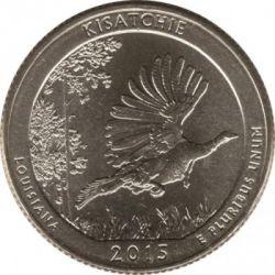 Moneda > ¼dollar, 2015 - Estats Units  (Bosc Nacional de Kisatchie) - obverse