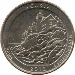 Moneta > ¼dollaro, 2012 - USA  (Parco nazionale di Acadia - Quarto) - reverse