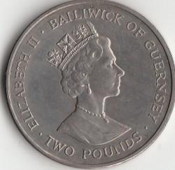Moneta > 2svarai, 1998 - Gernsis  (WWF Conserving Nature - Brimstone Butterfly) - obverse