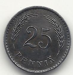 Münze > 25Penny, 1943 - Finnland  (Iron /grey color/) - reverse