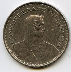 Moneta > 5franków, 1981 - Szwajcaria  - obverse