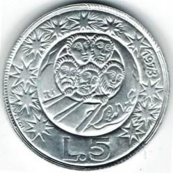 Монета > 5лір, 1973 - Сан-Марино  - obverse