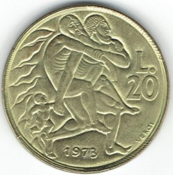 العملة > 20ليرة, 1973 - سان مارينو  - obverse