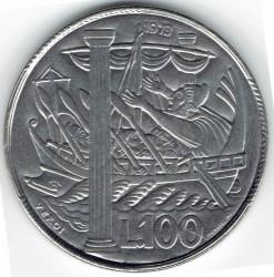 Монета > 100лір, 1973 - Сан-Марино  - obverse