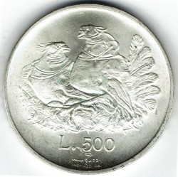 Moneda > 500lire, 1974 - San Marino  - obverse
