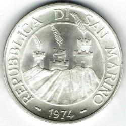 Moneda > 500lire, 1974 - San Marino  - reverse