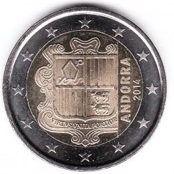 Coin > 2euro, 2014-2015 - Andorra  - obverse