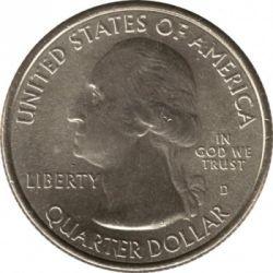 Coin > ¼dollar, 2012 - USA  (Hawaii Volcanoes National Park Quarter) - obverse