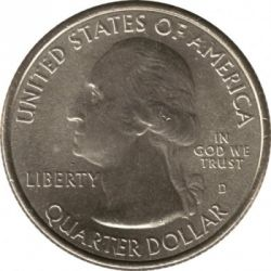 Coin > 25 cents (quarter), 2012 - USA  (Hawaii Volcanoes National Park Quarter) - obverse