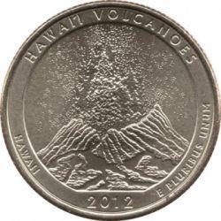 Coin > ¼dollar, 2012 - USA  (Hawaii Volcanoes National Park Quarter) - reverse