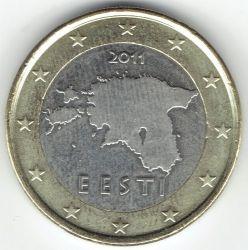 Moneda > 1euro, 2011-2018 - Estonia  - obverse
