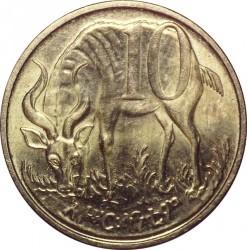 Moneda > 10santeem, 1977-2012 - Etiopía  - obverse