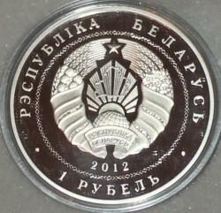 Moneda > 1rublo, 2012 - Bielorrusia  (90th Anniversary of Belarusbank) - obverse