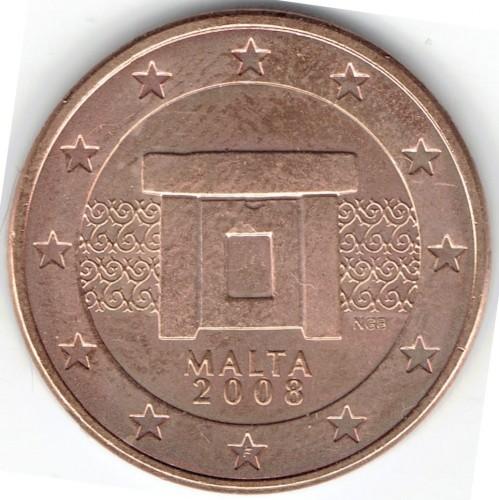 5 Eurocent 2008 2018 Malta Münzen Wert Ucoinnet