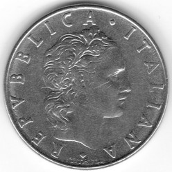 Moneda > 50liras, 1954-1989 - Italia  - reverse
