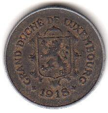 錢幣 > 5生丁, 1918-1922 - 盧森堡  - obverse