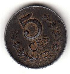 錢幣 > 5生丁, 1918-1922 - 盧森堡  - reverse