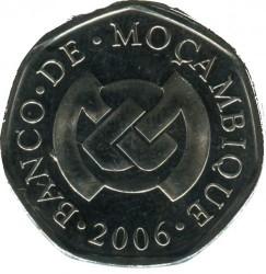 Moneta > 1metical, 2006-2012 - Mozambik  - reverse