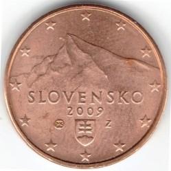 Moeda > 1cêntimo, 2009-2018 - Eslováquia  - reverse