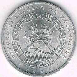 Moneta > 1metical, 1986 - Mozambik  - obverse
