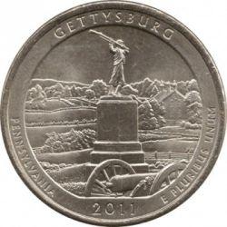 Moneda > 25centavos(cuarto), 2011 - Estados Unidos  (Gettysburg National Military Park Quarter) - reverse