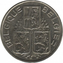 Монета > 1франк, 1939 - Белгия  (Legend - 'BELGIQUE - BELGIE') - obverse