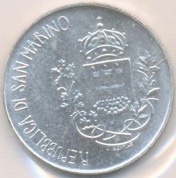 Münze > 500 Lire, 1981 - San Marino  (2000th Anniversary - Death of Virgil, Bucolics /Playing the Flute/) - reverse