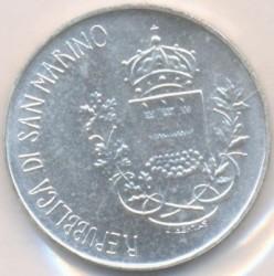 Moneta > 500lire, 1981 - San Marino  (2000° anniversario - Morte di Virgilio, Bucoliche/suonare il flauto/) - reverse