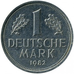 Coin > 1 mark, 1982 - Germany  - obverse