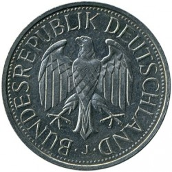 Coin > 1 mark, 1982 - Germany  - reverse