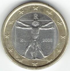 Монета > 1евро, 2008-2018 - Италия  - reverse