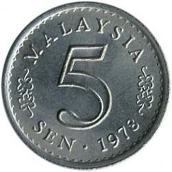 Coin > 5sen, 1967-1988 - Malaysia  - reverse