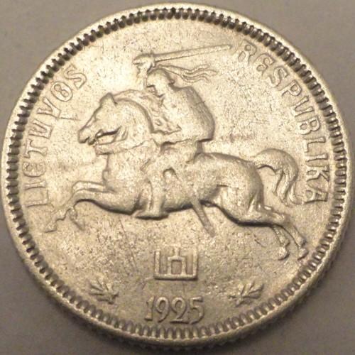Монета 1 vienas litas 1925 стоимость монет россии 2016 года выпуска