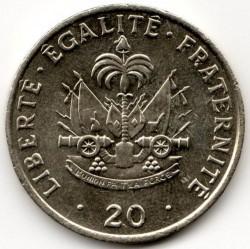 Монета > 20сантимів, 1986-1991 - Гаїті  - obverse