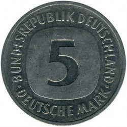 Coin > 5 mark, 1992 - Germany  - obverse