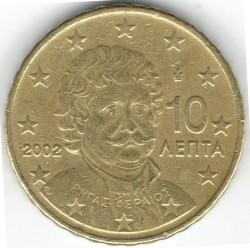 Minca > 10eurocentov, 2002-2006 - Grécko  - obverse